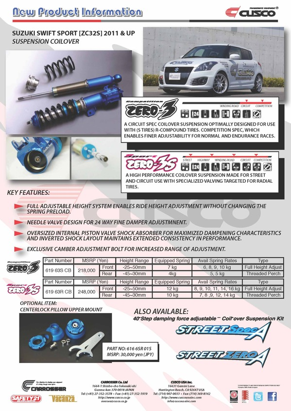 Suzuki Swift Sport [ZC32S] Suspension
