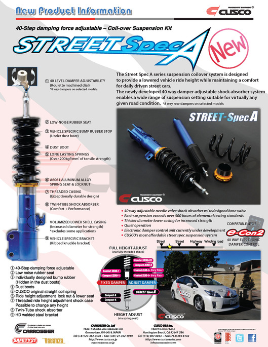 STREET SPEC-A 40-Way Coilover Suspension