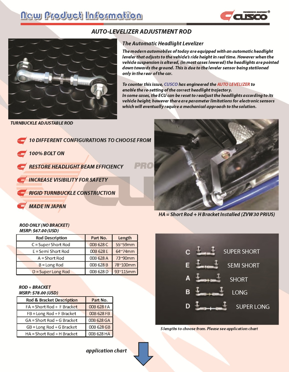 CUSCO AUTO HEADLIGHT LEVELIZER