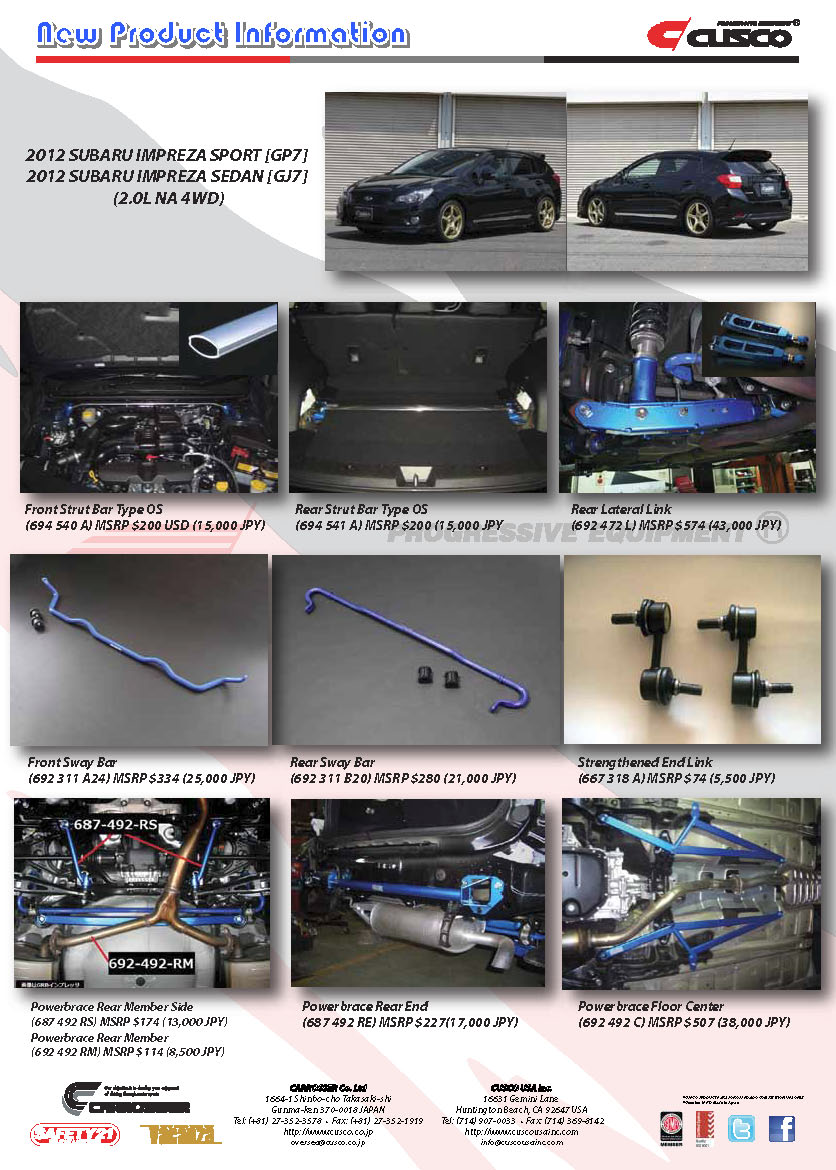 2012 Subaru Impreza Sport Amp G4 Products Parts Amp Products
