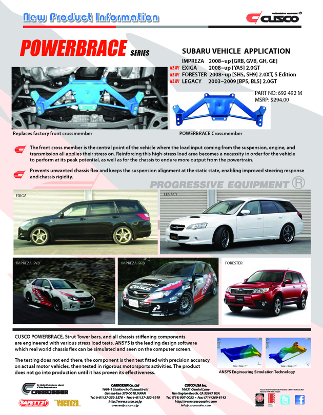 NEW: SUBARU POWERBRACE (Crossmember)