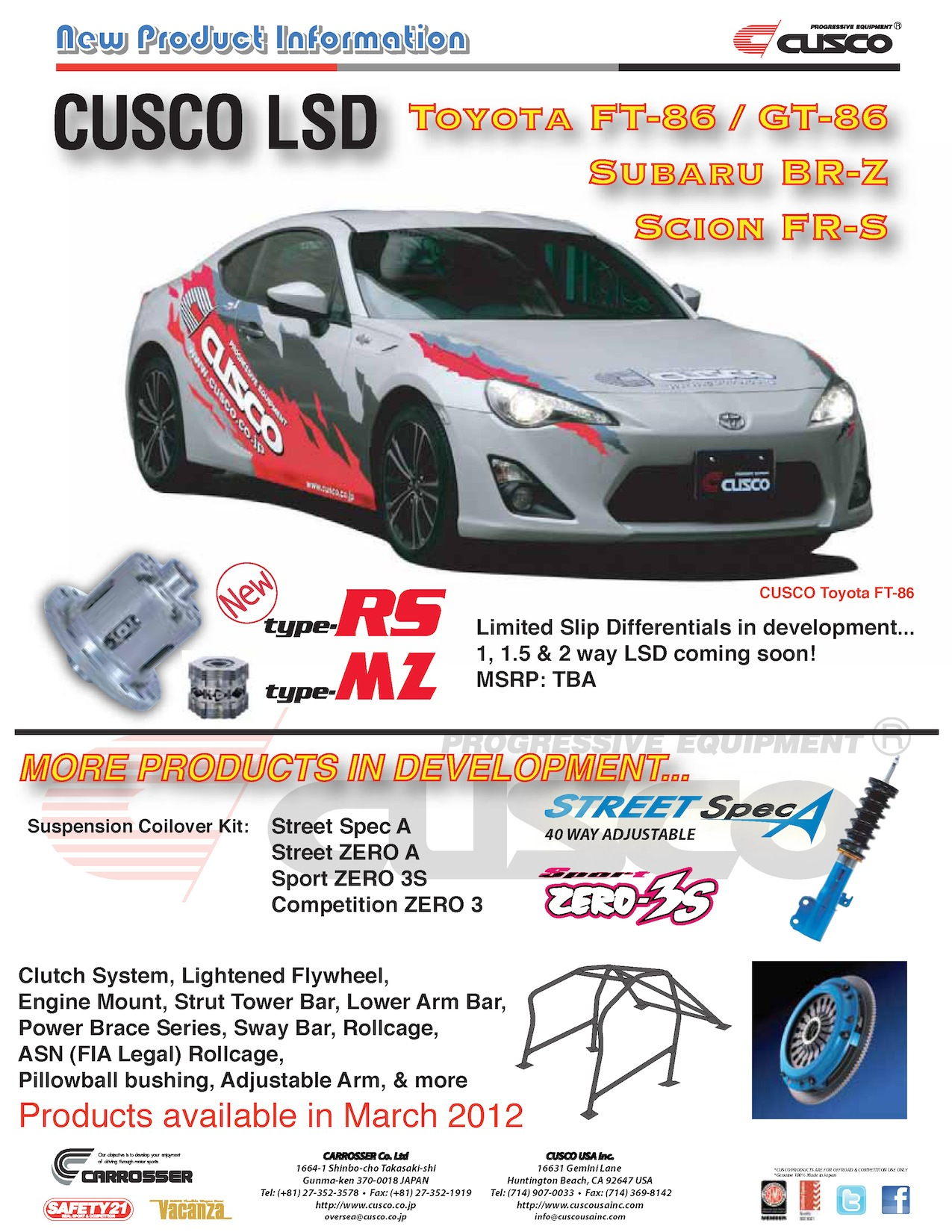 Toyota FT-86, Subaru BR-Z Product Launch