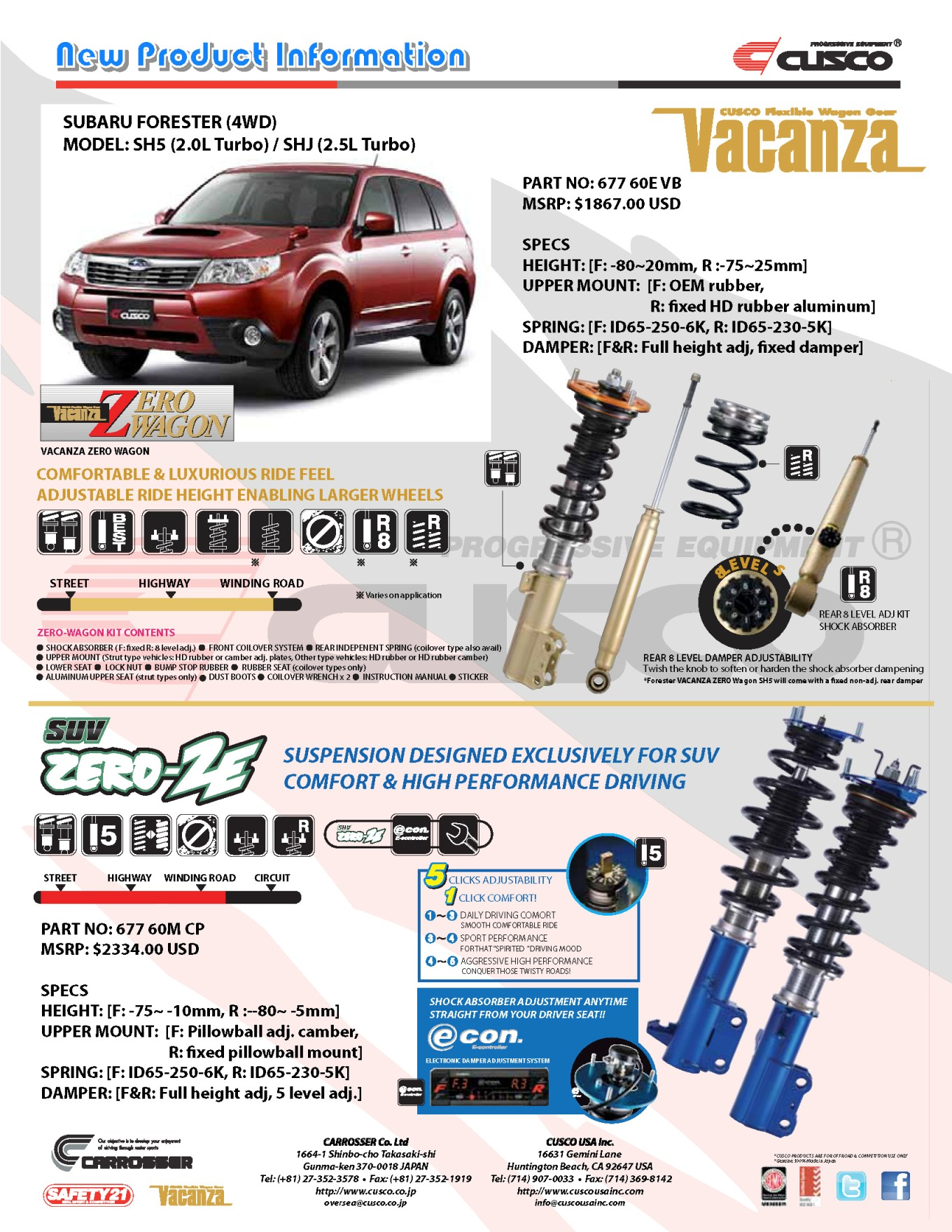 SUBARU Forester SH5 & SHJ Coilover Suspension